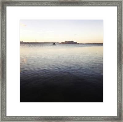 Float Plane Framed Print by Les Cunliffe