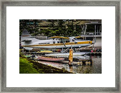 Float Plane Framed Print by Puget  Exposure