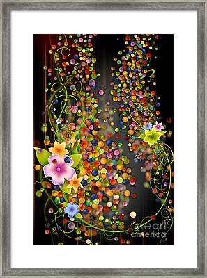 Floating Fragrances - Black Version Framed Print by Bedros Awak