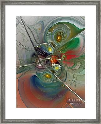 Floating Lightness-abstract Art Framed Print by Karin Kuhlmann