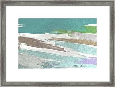 Floating On Ice Framed Print by Lenore Senior