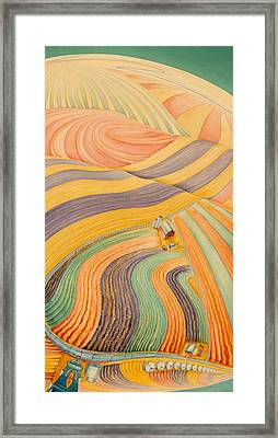 Floating Over Fields IIi Framed Print by Scott Kirby
