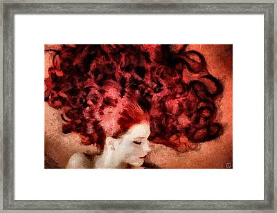 Floating Red Framed Print by Gun Legler