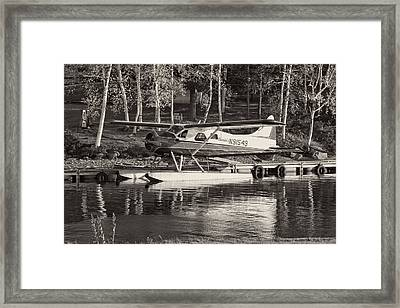 Floatplane On Moosehead Lake In Maine Framed Print by Keith Webber Jr