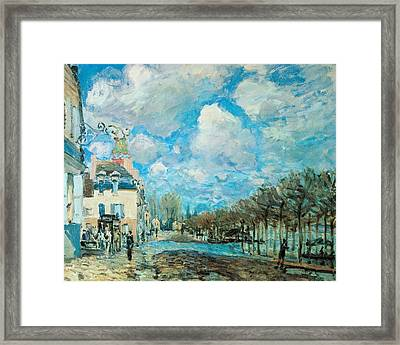 Flood At Port-marly Framed Print by Alfred Sisley