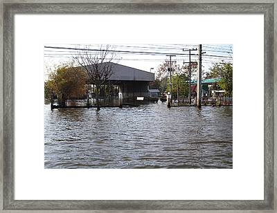 Flooding Of Stores And Shops In Bangkok Thailand - 01134 Framed Print by DC Photographer