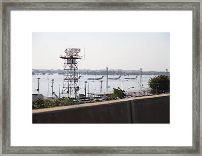 Flooding Of The Airport In Bangkok Thailand - 01131 Framed Print by DC Photographer