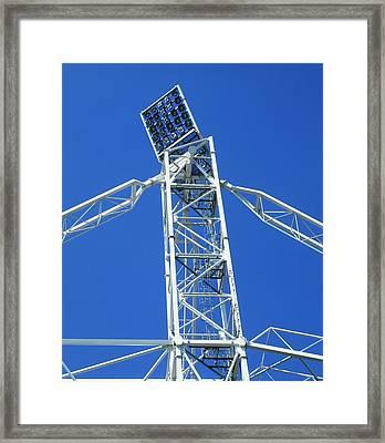 Floodlights On A Tall Pylon Framed Print by Dorling Kindersley/uig
