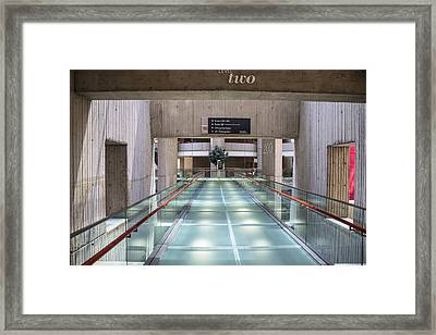 Floor Two Renaisannce Center In Detroit  Framed Print by John McGraw