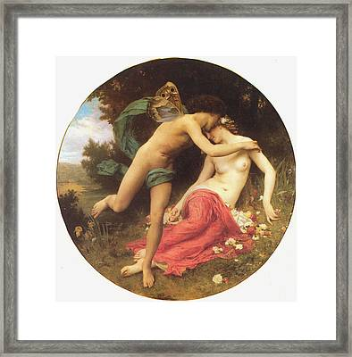 Flora And Zephyr Framed Print by William Bouguereau