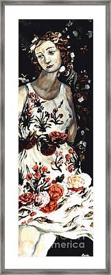 Flora Framed Print by Carrie Joy Byrnes