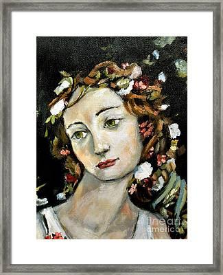 Flora Detail Framed Print by Carrie Joy Byrnes