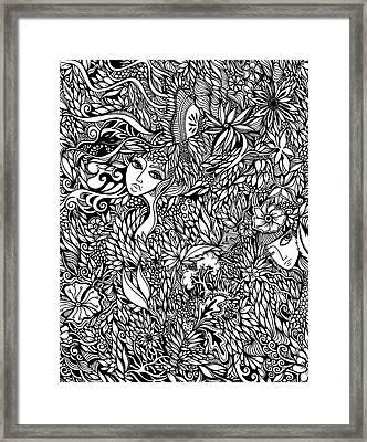 Flora Framed Print by Jody Pham