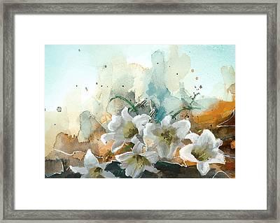 Floral 14b Framed Print by Mahnoor Shah