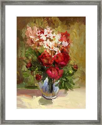 Floral 9 Framed Print by Mahnoor Shah