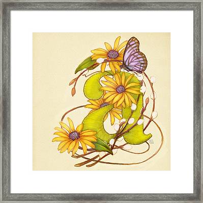 Floral A Framed Print by Catherine Noel