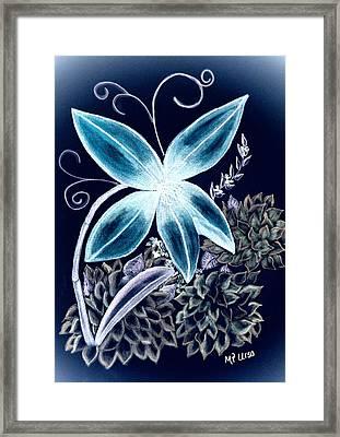 Floral Art 14-3 Framed Print by Maria Urso