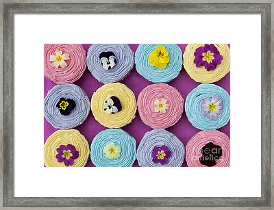 Floral Cupcakes Framed Print by Tim Gainey