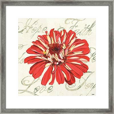 Floral Inspiration 1 Framed Print by Debbie DeWitt
