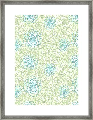 Floral Lines Framed Print by Susan Claire