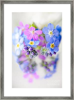 Floral Reflection Framed Print by Jan Bickerton
