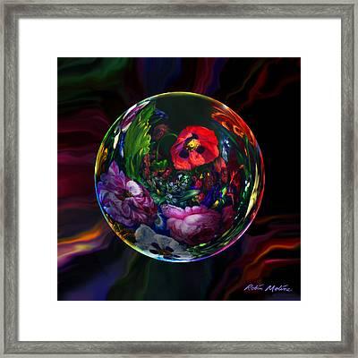 Floral Still Life Orb Framed Print by Robin Moline