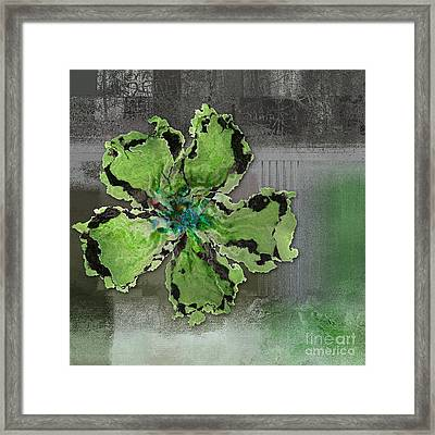 Floralart - 0404 Green Framed Print by Variance Collections