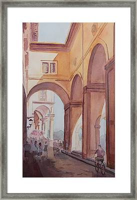 Florence Arcade Framed Print by Jenny Armitage
