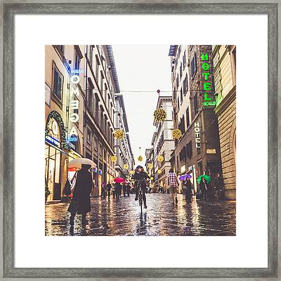 Florence Framed Print by Cory Dewald