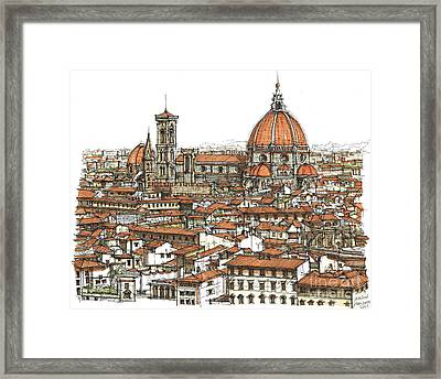Florence In Colour Framed Print by Adendorff Design