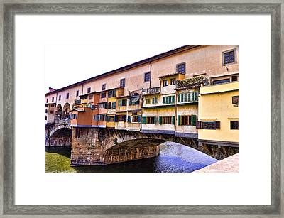 Florence Italy Ponte Vecchio Framed Print by Jon Berghoff