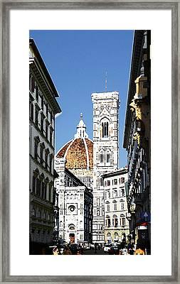 Florence Italy Santa Maria Fiori Duomo Framed Print by Irina Sztukowski