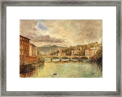 Florence Framed Print by Juan  Bosco