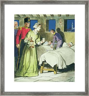 Florence Nightingale From Peeps Framed Print by Trelleek