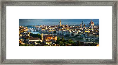 Florence Panorama Framed Print by Inge Johnsson