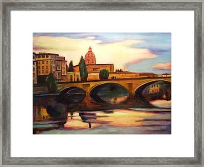 Florence Framed Print by Sheila Diemert