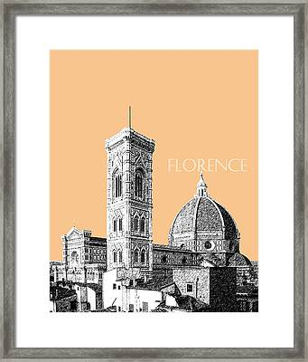 Florence Skyline Cathedral Of Santa Maria Del Fiore 2 - Wheat Framed Print by DB Artist
