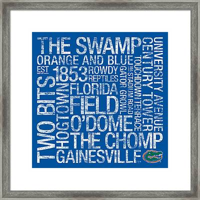 Florida College Colors Subway Art Framed Print by Replay Photos