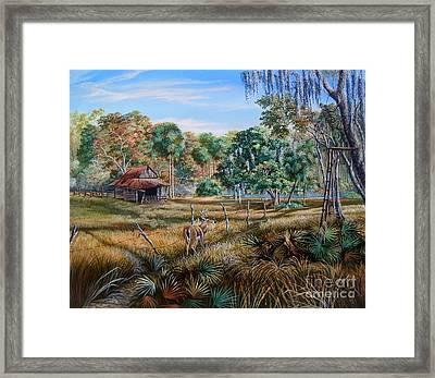 Florida Cracker Cowboy- Third Generation Bowhunter Framed Print by Daniel Butler