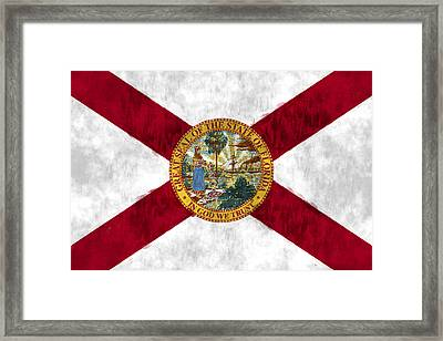 Florida Flag Framed Print by World Art Prints And Designs