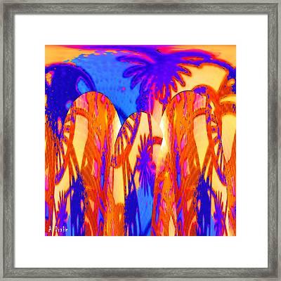 Florida Splash Abstract Framed Print by Alec Drake