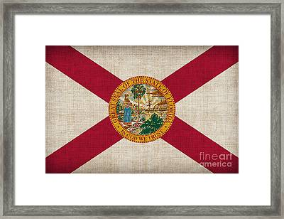 Florida State Flag Framed Print by Pixel Chimp
