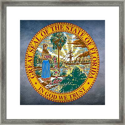Florida State Seal Framed Print by Movie Poster Prints