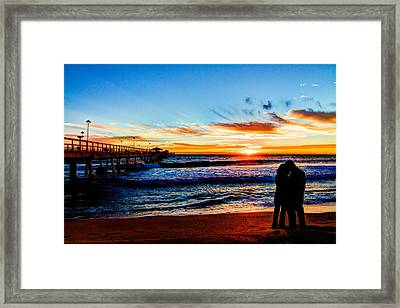 Florida Sunrise Brings A New Year Framed Print by Andres Leon