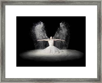 Flour Wings Framed Print by Pauline Pentony Ba
