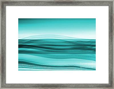 Flow - Cyan Framed Print by Hannes Cmarits