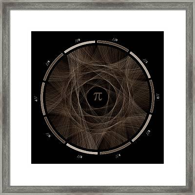 Flow Of Life Flow Of Pi #2 Framed Print by Cristian Vasile