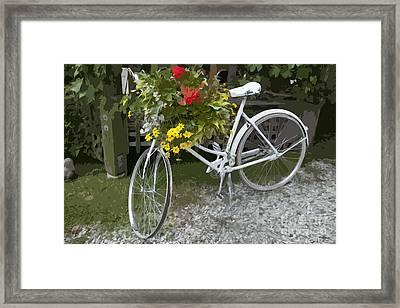 Flower Bike Framed Print by Graham Foulkes