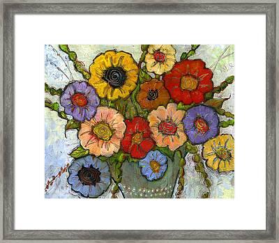 Flower Bouquet Framed Print by Blenda Studio