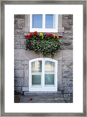 Flower Box Old Quebec City Framed Print by Edward Fielding